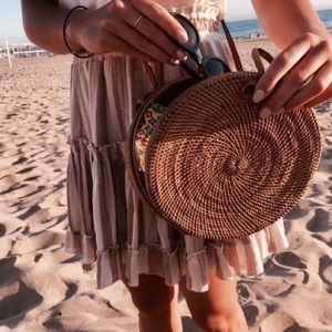 Bon Voyage Bags - Gorgeous Rattan Bag with Batik Fabric Interior