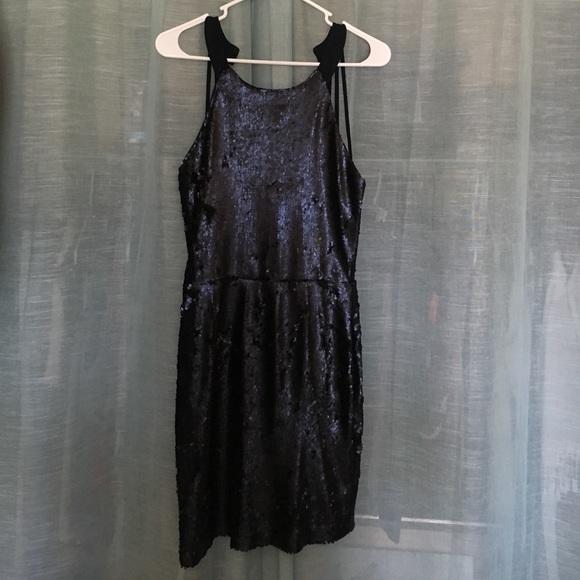 Lulu's Dresses & Skirts - Navy Blue Sequin Dress