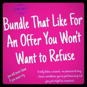 Other - Bundle likes for personalized offers & deals.