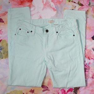 J. Crew Mint Green Skinny Jeans