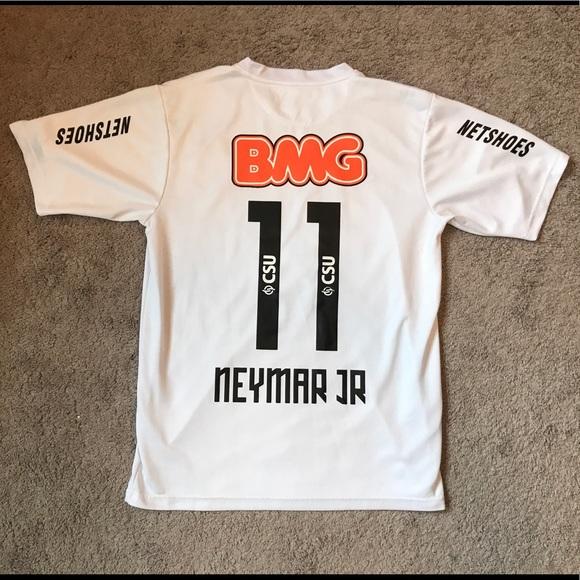 c5211ab58 Nike Authentic Neymar Jr. Santos F.C. Home Jersey.  M 59946ba7eaf0305d7d1f1d3d