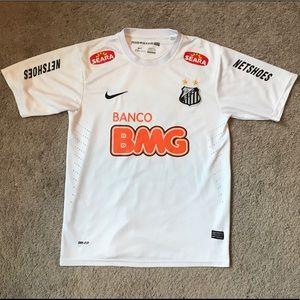 54d43e63e Nike Shirts - Nike Authentic Neymar Jr. Santos F.C. Home Jersey