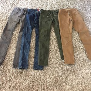 Denim - 4 pair of skinny jeans