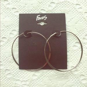 Jewelry - Brand New Silver Hoop Earrings