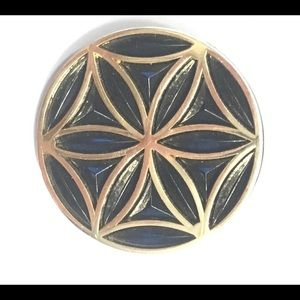Other - Black and gold sacred geometry hat / lapel pin
