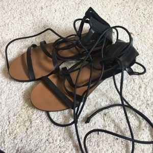 Shoes - Mango lace up sandals
