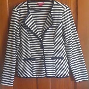 Jackets & Blazers - Womans navy/white sz12 blzr