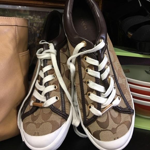 fe28662adc30 Coach Shoes - COACH TENNIS SHOES 9.5 women 7.5 men clean!