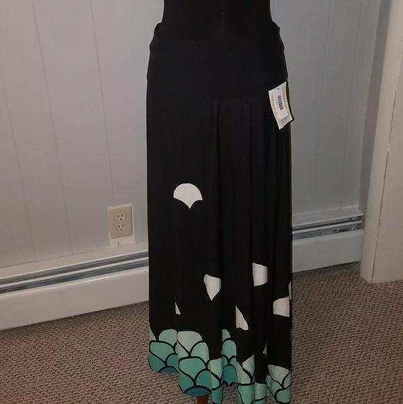 fe97326e68 LuLaRoe Skirts | Llr S Maxi Black W Mermaid Print | Poshmark