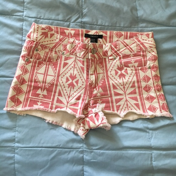 Forever 21 Pants - Pink tribal shorts