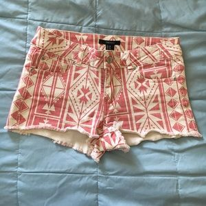 Forever 21 Shorts - Pink tribal shorts