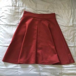 Maroon baby doll/flare skirt