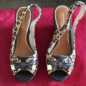 Sperry top-sider leopard print shoes