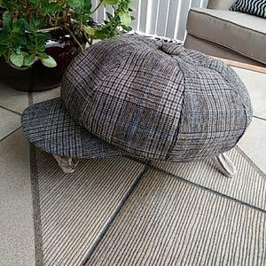 Accessories - Just in! Tweed Newsboy Cabbie Hat - Wool Blend