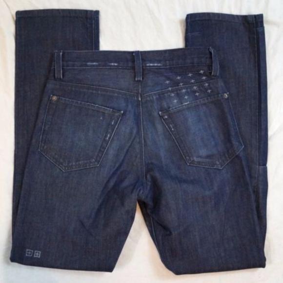 4e512715 Ksubi Other - Ksubi Dee Dee Preloved Raw Indigo Jeans 28 X 31
