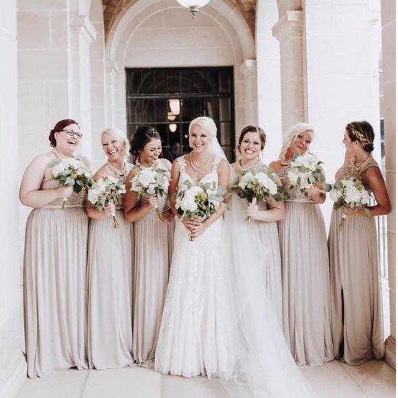 Red And White At David S Bridal Wedding Dress: Bridesmaidformal Dress In
