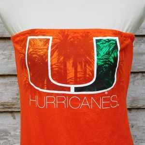 9f940e0f94 handmade Tops - Um University Of miami Hurricanes Tube Top T shirt