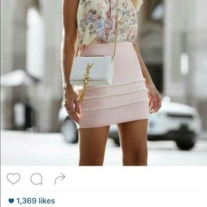 In search of pearl embellished skirt