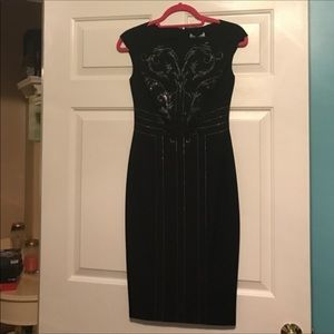 Versace Black Crystal Embellished Dress size 2