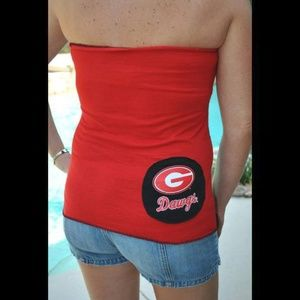 UGA Georgia Bulldogs Strapless Tube Top T shirt