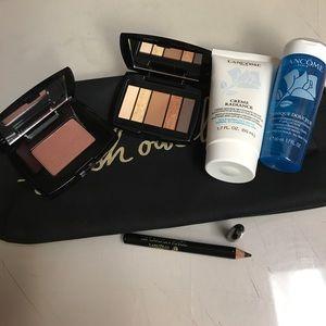 Lancome Set Cream Eyeshadow Palette blush eyeliner