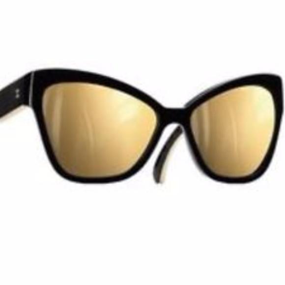 bf8cd12e80a36 CHANEL Accessories - CHANEL-14K-Gold-Mirror-Cat-Eye-Sunglasses