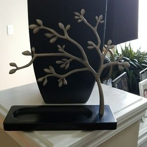 Tabletop Jewelry Tree with attached tray