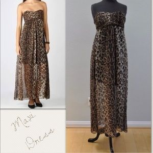 Dresses & Skirts - NWOT- Animal Print Strapless Maxi Dresses