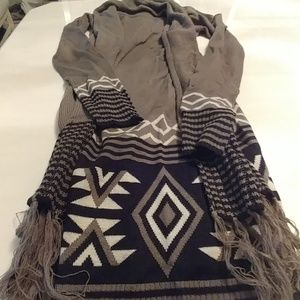 Sweaters - 2/$45 Olive green sweater with scarf size small