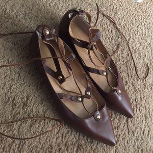 Pixie Market Shoes - Pixie Market lace-up flat