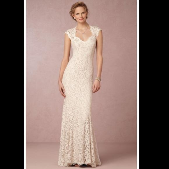 12f4db2b0c6a Tadashi Shoji Dresses | Bhldn Marivana Ivory Lace Wedding | Poshmark