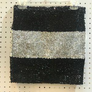 Forever 21 miniskirt size m silver & black
