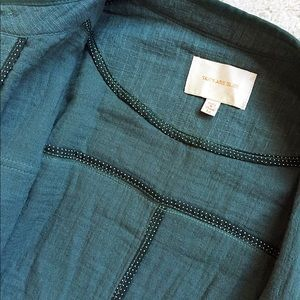 Skies Are Blue Jackets & Coats - Skies Are Blue Linen Cargo Jacket