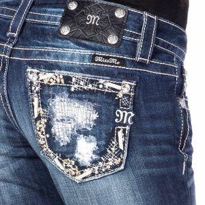 New Miss Me GlamFetti Boot Cut Jeans Sz 27-31