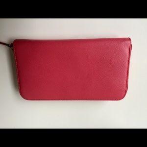 3d3fda6e2958 Prada Bags | Saffiano Leather Fiocco Wallet Peonia | Poshmark
