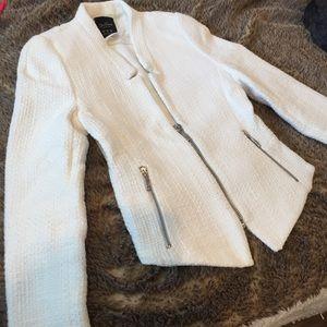 White woven Zara blazer