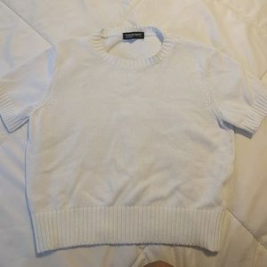 American apparel cropped short sleeve sweater