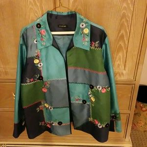 Jackets & Blazers - BEAUTIFUL TURQUOISE RAYON AUGUST MAX JACKET