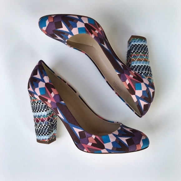 J. Crew Shoes - J.Crew Multi-Color Block Heels