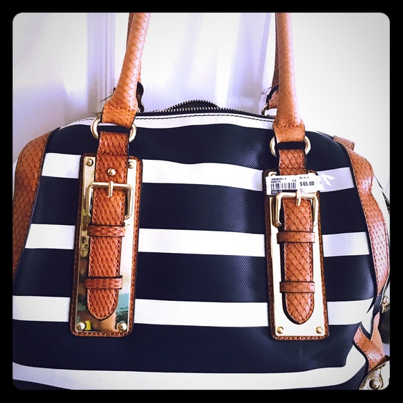 c9b5740a34 Aldo bag navy blue with white stripes