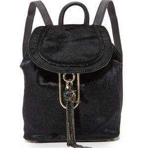 🎁SOLD🎁 NWT DVF Love Calfhair Black Backpack
