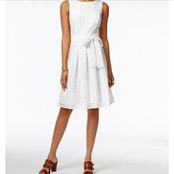 5d8b70a0d22 Tommy Hilfiger Illusion Striped Fit & Flare Dress.  M_5994db152de5120cb600197d