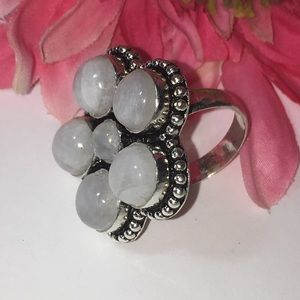 Jewelry - 🛍💕Moonstone 925 Sterling Silver Ring💍NEW💫