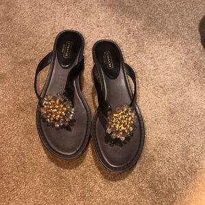 Shoes - Coach sandals size 8.5!