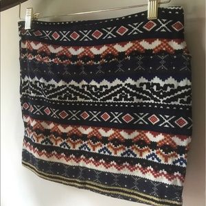 Multicolored/mixed pattern knitted mini. size S