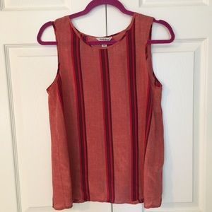 Lucky Brand NWOT Striped Open Back Silk Top