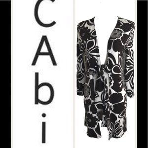 Cabi Brown & White Top.  Sz M