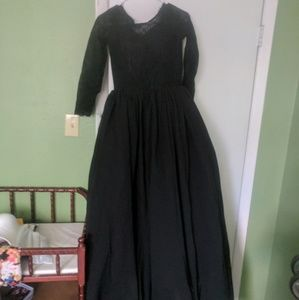 Formal black lace dress