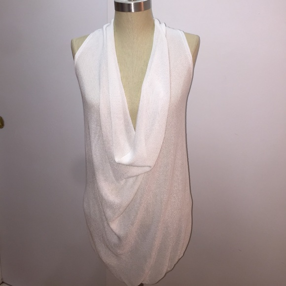 4f384340f9 Club Monaco Sleeveless Deep Cowl Neck Sweater