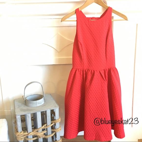 NWT Red Bow Back Skater Dress cb4cc75d9
